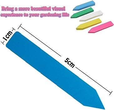 SIMUR 500 Pcs Multicolor Plastique /étanche Graines De Plantes /étiquettes Marqueurs Piquets Pot R/éutilisable /étiquettes pour Plante Chambre denfant Piquet De Jardin