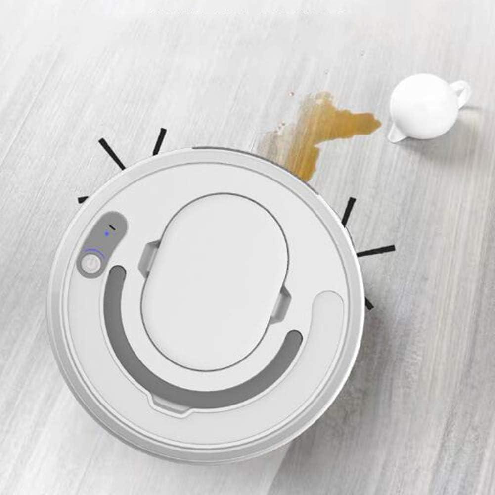 LAHappy Aspirateur Robot avec 2000Pa Forte Puissance d\'Aspiration Robot Aspirateur Laveur 2 en 1 Super Slim Convient pour Les Poils d\'animaux,Noir White