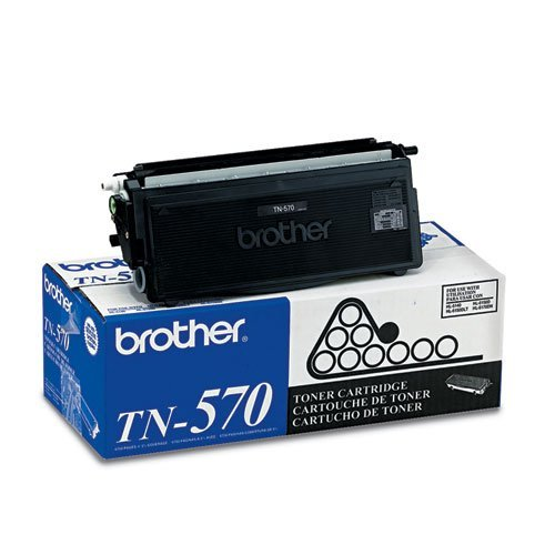 Genuine Brother TN570 (TN-570) High Yield Black Toner Cartridge 2-Pack - Tn 570 Brother Toner