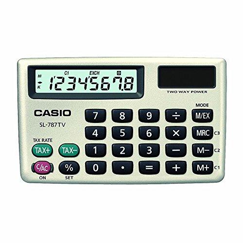 Casio SL-787TV-GD-S-DH Calculadora, Tipo Cartera, Portátil, Color Gris