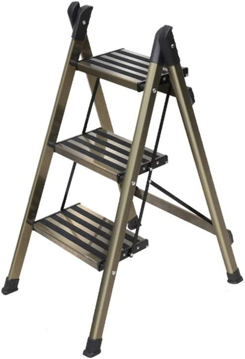 XSJZ Taburete Plegable, Mini Aleación de Aluminio Plegable Escalera Multifunción Portátil Escalera Ascendente Escaleras Ascendentes 2-4 Escalera Escalonada Escalera Plegable (Color : B): Amazon.es: Hogar