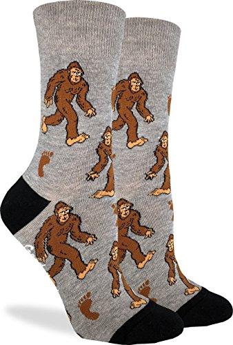 Good Luck Sock Womens Bigfoot Socks - Grey, Adult Shoe Size 5-9