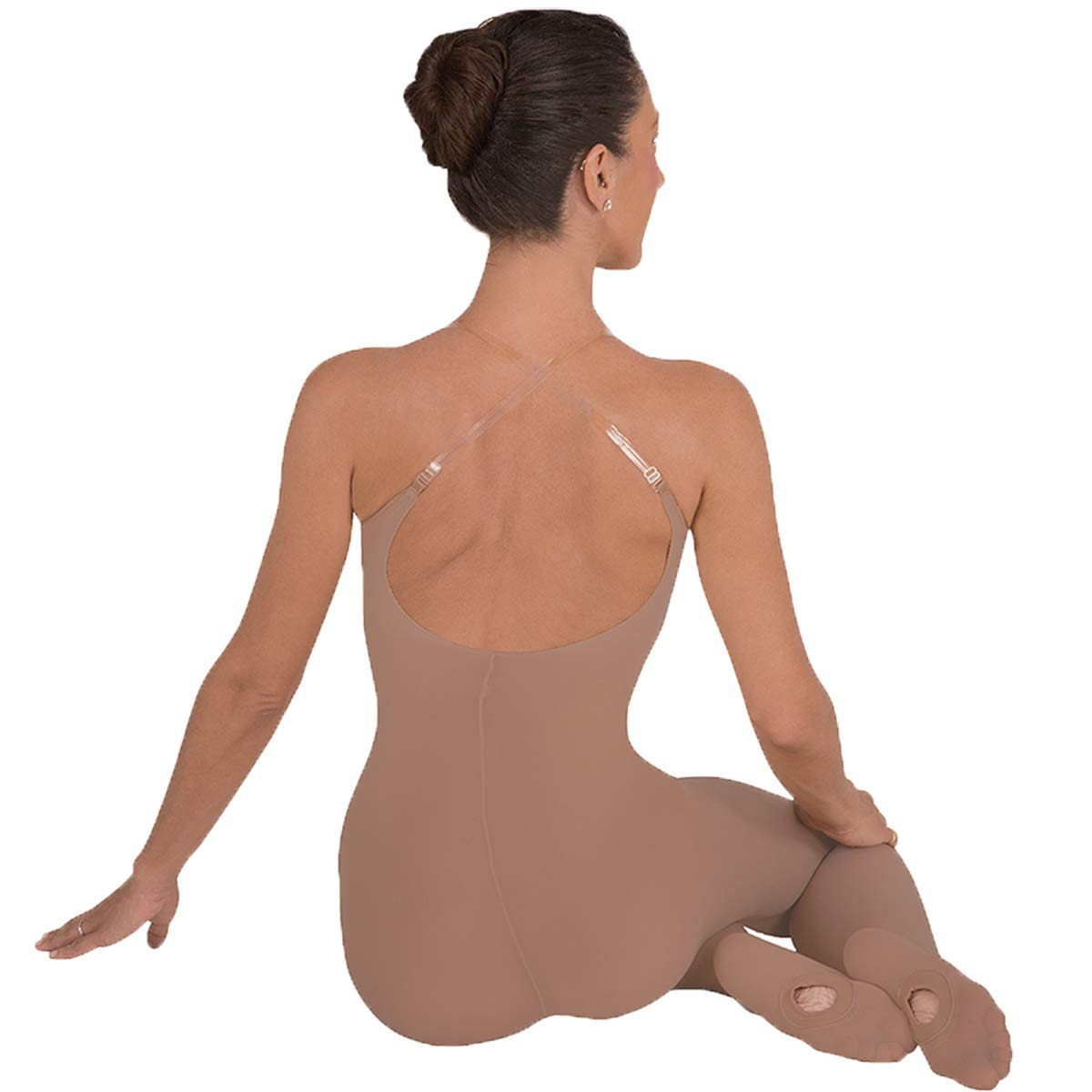 Body Wrappers A91 TotalSTRETCH Convertible Foot Camisole Body Tights, Suntan, Small/Medium by Body Wrappers
