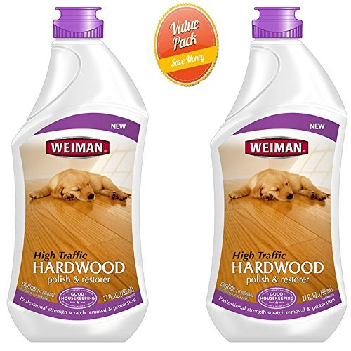 Weiman Wood Floor Polish - 27 Ounce - 2 Pack - Hardwood Laminate Pine Oak Birch Bamboo and More
