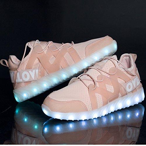 Scarpe Da Donna Matari Led Leggeri Sneakers Traspiranti E Luminose Lampeggianti Rosa
