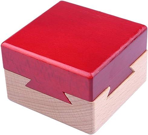 Ailyoo Mini Caja de Rompecabezas 3D Caja de joyería de Madera Regalo Inteligencia Juegos de Rompecabezas Puzzle Juguete de Madera Puzzle Magia Puzzle Caja de Bloqueo para Juegos de Inteligencia: Amazon.es: Hogar