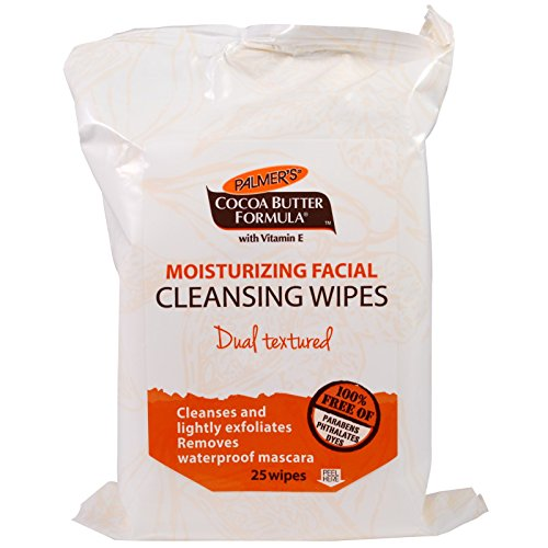 Palmer's Coco Butter Formula Gentle Facial Cleansing Wipes White Lily -- 25 Wipes