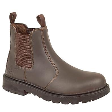 Grafters Herren Sicherheitsstiefel / Dealer Boots, Leder (44 EUR) (Braun)