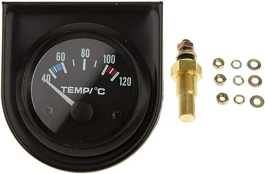 12volt VDO Water Temperature Temp gauge with sender 52mm 2 inch 40-120 Deg C