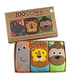 Zoocchini Boys 3 Piece Organic Training Pant Set-Safari Friends (3T-4T), Multi