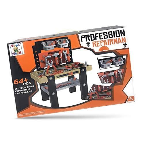 ToysUneed - Juego de banco de trabajo infantil con herramientas realistas para la construcción, banco de herramientas de...