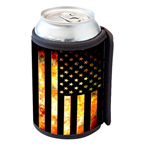 American Flag Grunge Metal Cooler product image