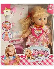 Ztoys B-702 Baby Doll Set For Girls, Multi Color