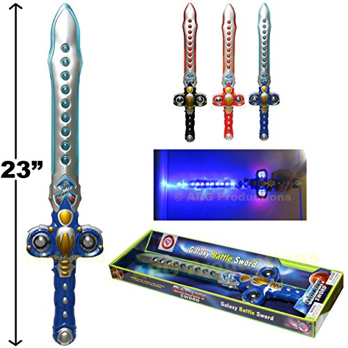 SPACE GALACTIC BATTLE SWORD TOY GALAXY SABER FLASHING LIGHT AND FX SOUND -