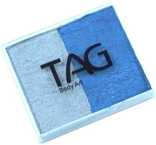Pearl Tags - Tag Split-Cake 50g 2c Pearl Blue & Pearl Silver