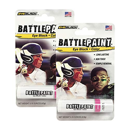 BattlePaint (2 Tubes) Pink Eye Black Grease, Rich Vibrant Colors, Worn by The -