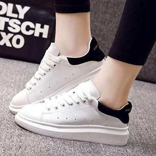 Heel Nappa con Cerrado Summer Comfort Leather de ZHZNVX Zapatos Mujer Black Sneakers Flat Rosa Punta Spring Negra qnPtx7vw