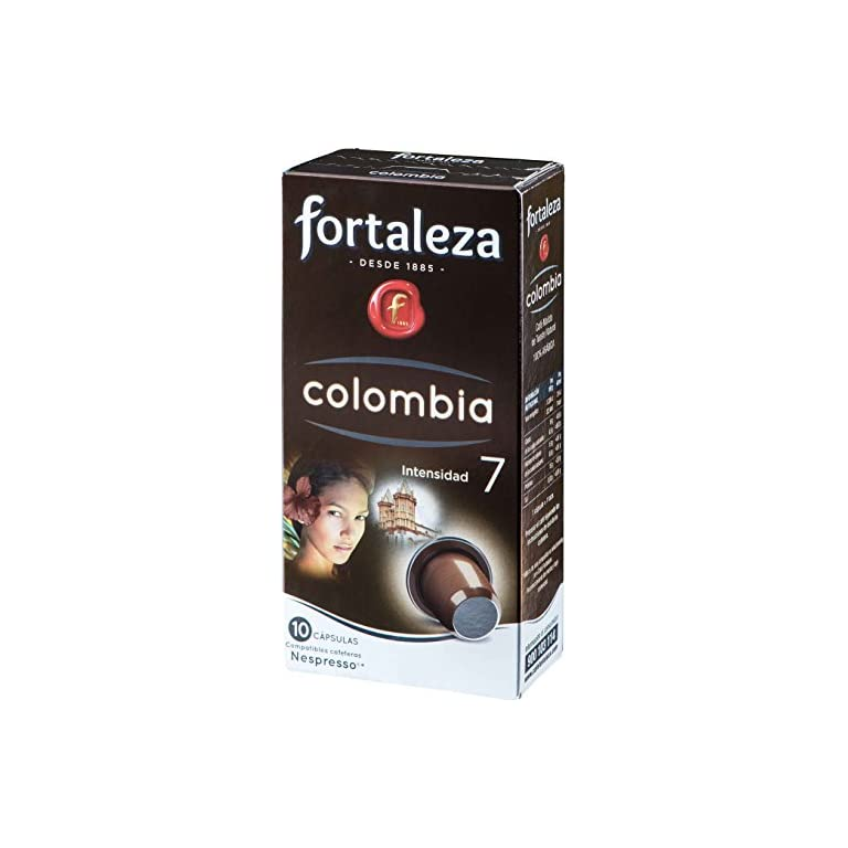 Café FORTALEZA – 10 Cápsulas de café de Colombia Compatibles con Nespresso