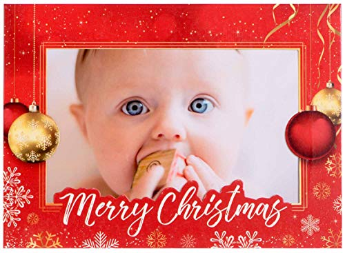 StarPack Christmas Holiday Greetings Cards/Photo Frame Cards Set (10-Pack)