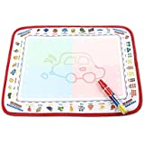Portable Water Drawing Doodle Mat, Reusable, No Chemicals, No Mess, Paint with Water, Doodle Board, Educational Toy for Kids, Magic Pen Included, Doodle Pad, 11.5 by 15 Inches