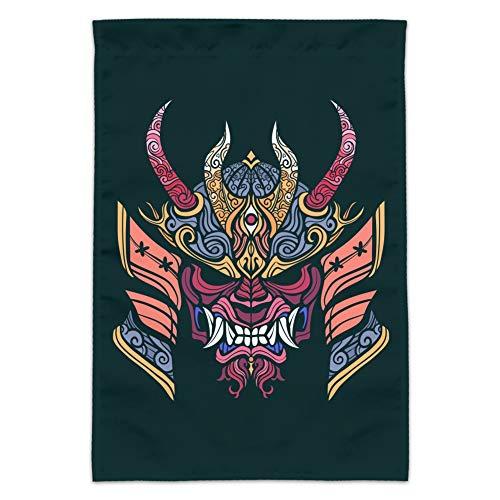 - GRAPHICS & MORE Samurai Warrior Japanese Demon Oni Mask Garden Yard Flag (Pole Not Included)