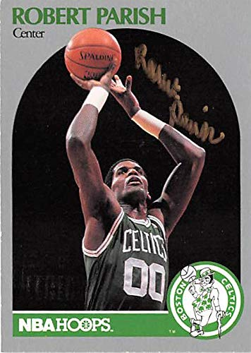- Robert Parish autographed basketball card (Boston Celtics NBA Champion) 1990 Hoops #45