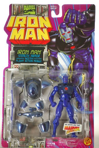 Toy Biz Mint - 1995 - Toy Biz / Marvel Comics - Iron Man - Stealth Armor with Flight Action Module - 5 Inches - From Marvel Action Hour - Out of Production - New - Mint - Rare - Limited Edition - Collectible