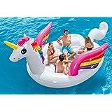 "Intex Unicorn Party Island, Inflatable Island, 198"" X 132"" X 68"""