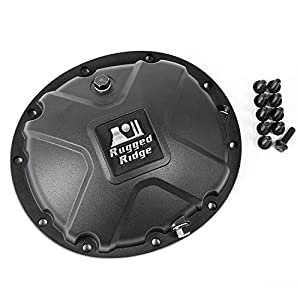 Rugged Ridge 16595.14 Black Boulder Aluminum Differential Cover for Jeep and Dana 35