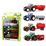 Coolplay 1:64 Die Cast Slide Farm Tractor Cars Toys Play Vehicle Set