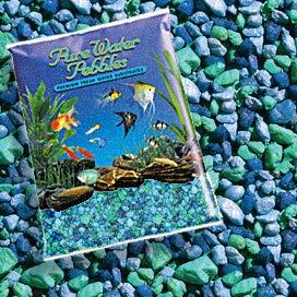 Pure Water Pebbles Nature's Ocean Aquarium Gravel Blue Lagoon Gravel 5-lb ()