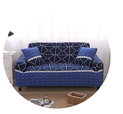 No Buy No Bye Elastic Sofa Cover Towel Modern Brief Coffee Graffiti Slip Resistant Sofa Slipcover Seat Couch Cover for Living Room 1Pcs,03,Four Seater