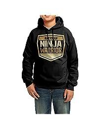 American Ninja Warrior (2) Gold Logo Big Boy/Girl's Hoodie