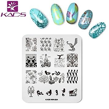 Amazon Kads Nail Art Stamp Stamping Template Image Plates Nail