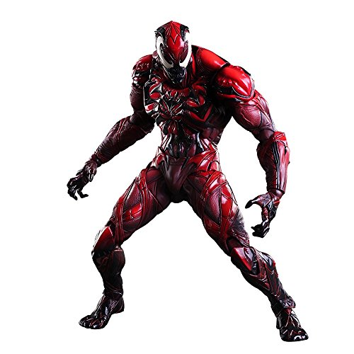 (Square Enix Marvel Universe Venom Red Variant Play Arts Kai Action Figure (Carnage))