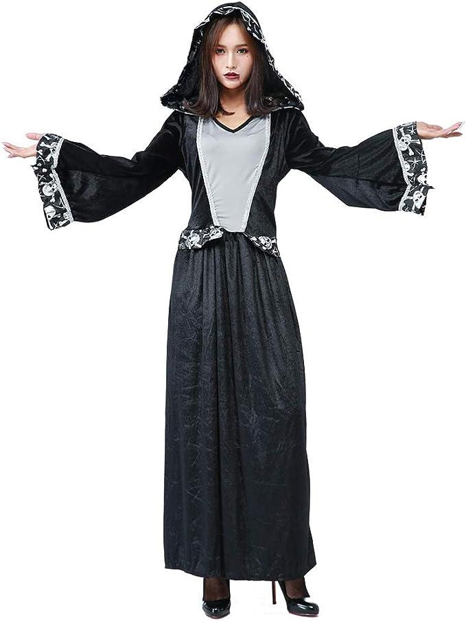Disfraz de Bruja de Halloween, Disfraz de Encaje de Calavera ...