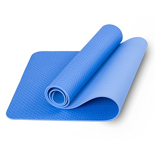Premium TPE Yoga Mat, 6mm Thick Non Slip Exercise Mat
