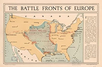 Amazon.com: Historic Map 1917 Map The battle fronts of ...