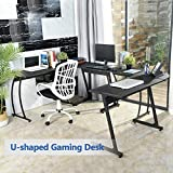 GreenForest L-Shaped Corner Desk Computer Gaming