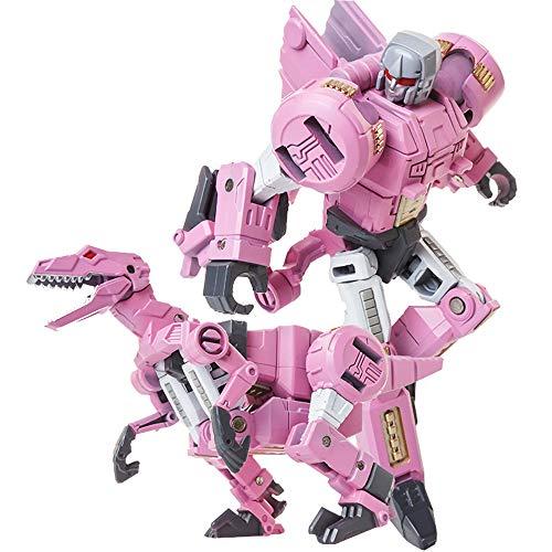 Girl Transformer Costume (Volcanicus Transformer Power Grimlock Alloy Dinosaur Action Figure Robot Toys Gifts for Kids Boys (Slash (Pink Raptors)