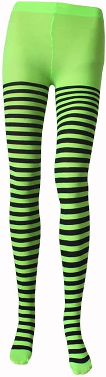 Ponce Fashion Wide Stripes Assorted Colors Pantyhose Tights Gothic Punk Plus Regular Size