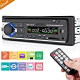 Car Stereo Player with Bluetooth, Huicocy Single-Din Version, USB / SD / MMC AUX/ Remote Control Digital Media Receivers Audio Receiver/MP3/WMA Player/FM Car Stereo with Bluetooth