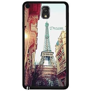 Dream Big Paris Destination Hard Snap on Phone Case (Note 3 III)