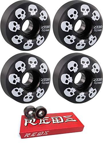 【おしゃれ】 Zero Skateboards 53mm マルチスカル ブラック/ホワイト - スケートボードホイール - 99a 99a 2個セット ボーンベアリング付き - 8mm ボーン スーパーレッド スケートボードベアリング - 2個セット B07MV6WVPT, はちみつの恵:04ab562e --- mvd.ee
