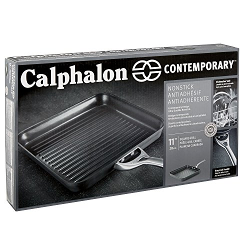 Calphalon Contemporary Hard-Anodized Aluminum Nonstick Cookware, Square Grill Pan, 11-inch, Black by Calphalon (Image #5)