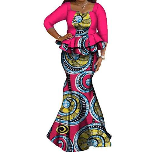 Stile Sera Vestito Di Stampate Compressione Popolare Del Pattern17 Da donne Coolred Flouncing Del Partito qxBZSB1t