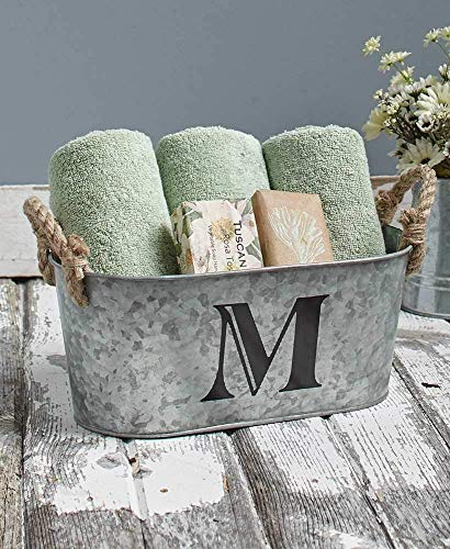 Galvanized Monogram Bucket M