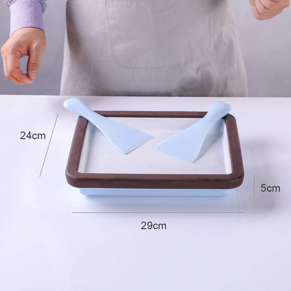 DIY Instant Eismaschine F/ür Frozen Yoghurt Sorbet Gelato Eisplatte Eis Teppanyaki Platte Eiscreme Rollen Machine Mit 2 Spateln