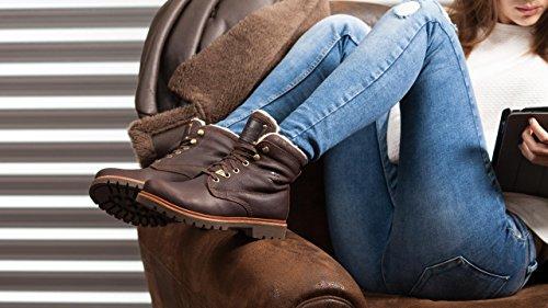 Chaude Aviator Brun PANAMA à Doublure Biker Et JACK Femmes Style Boots New q6PxqESnY