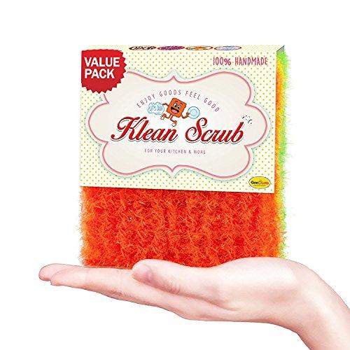 Dish Washing Crochet Scrubber - KLEAN SCRUB LARGE - Dish Scrubber Antibacterial